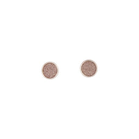 Pink Rose Gold Mini Round Glitter Studs - link has visual effect only