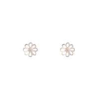 Sterling Silver Open Daisy Stud Earrings - link has visual effect only