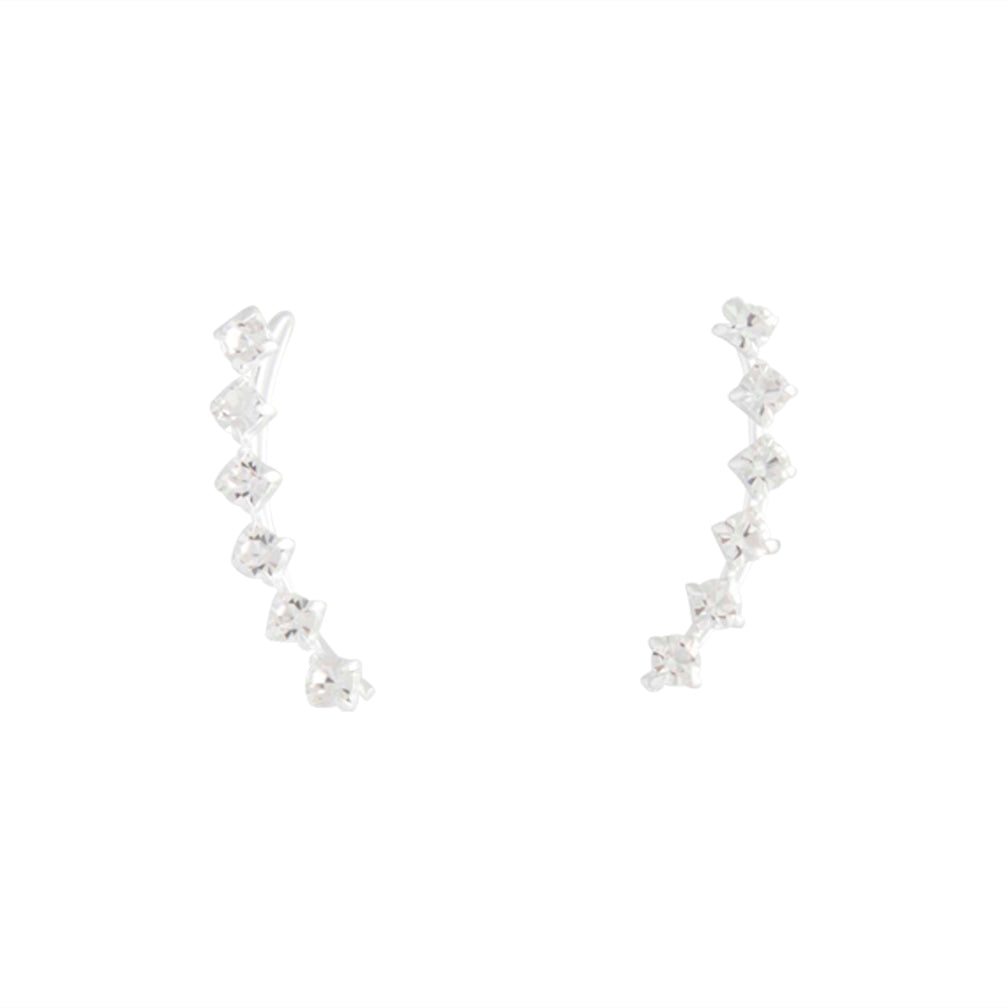 Sterling Silver Diamante Ear Pin