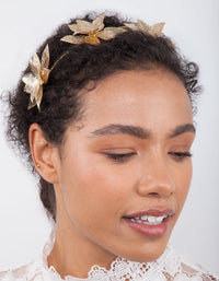 Golden Cluster Leaf Headband - link has visual effect only