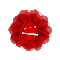 Deep Red Mesh Flower Clip - link has visual effect only