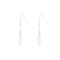 Silver SandBlast Leaf Shape Earring - link has visual effect only