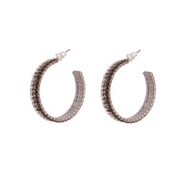 Black Ombre Cup Chain Hoop Earrings - link has visual effect only