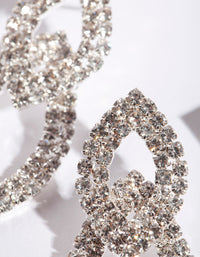 Silver Cup-Chain Double Leaf Earring - link has visual effect only