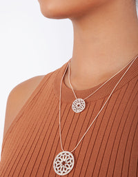 Rose Gold Double Row Circle Diamante  Necklace - link has visual effect only