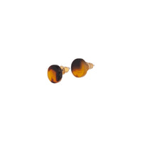 Acrylic Mini Circle Tortoiseshell Earring - link has visual effect only