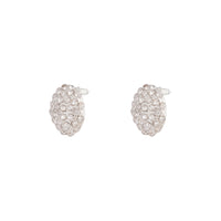 Silver Pave Round Stud Earring - link has visual effect only
