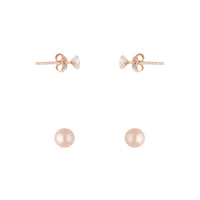 Rose Gold Plated Pearl Earring Pack - link has visual effect only