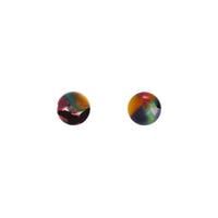 Rainbow Multi Resin Circle Earring - link has visual effect only