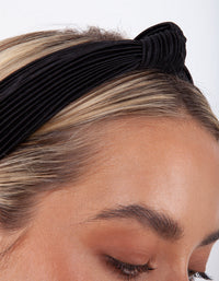 Black Pleated Turban Headband - link has visual effect only