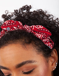 Red Bandana Knotted Headband - link has visual effect only