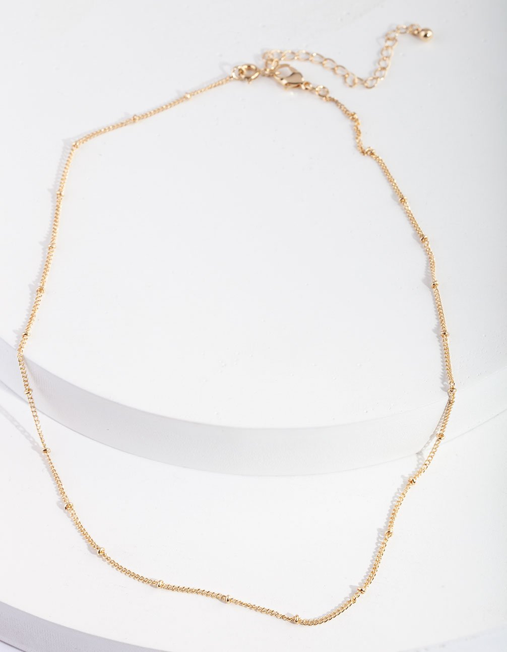 Gold Fancy Chain 44cm Necklace