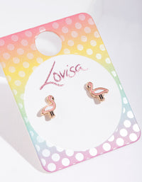 Kids Pink Flamingo Stud Earring - link has visual effect only