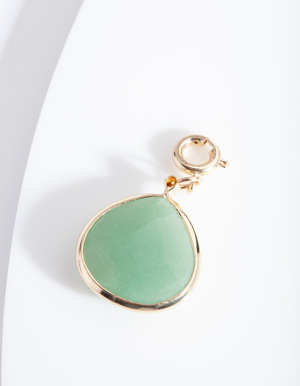 Green Faceted Stone Charm