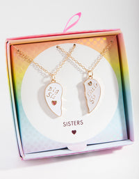 Kids Little Sis Big Sis Necklace Set - link has visual effect only