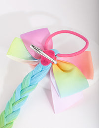 Kids Rainbow Fake Hair Tie - link has visual effect only