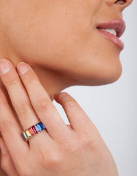 Gold Rainbow Gem Ring - link has visual effect only