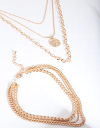 Gold Layered Pendant Necklace - link has visual effect only