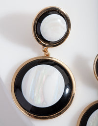 Gold Double Circle Shell Earring - link has visual effect only