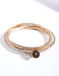 Mesh Diamante Bracelet 5 Pack - link has visual effect only