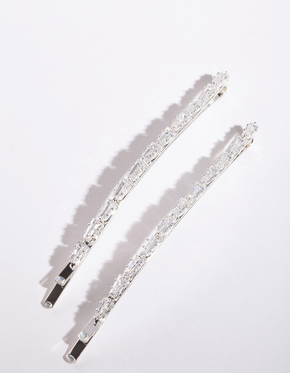 Cubic Zirconia Gem Hair Pin 2 Pack