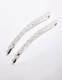 Cubic Zirconia Gem Hair Pin 2 Pack - link has visual effect only