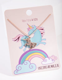 Rose Gold Unicorn Necklace - link has visual effect only