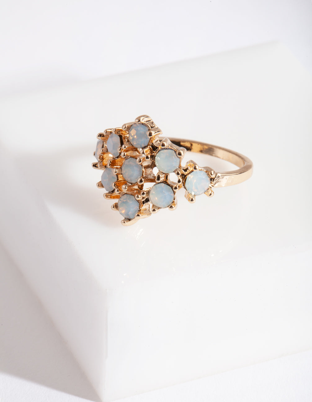 Gold White Stone Ring