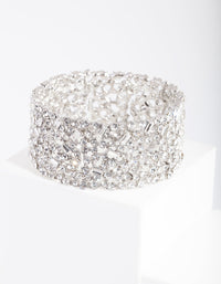 Rhodium Gem Embellished Bracelet - link has visual effect only