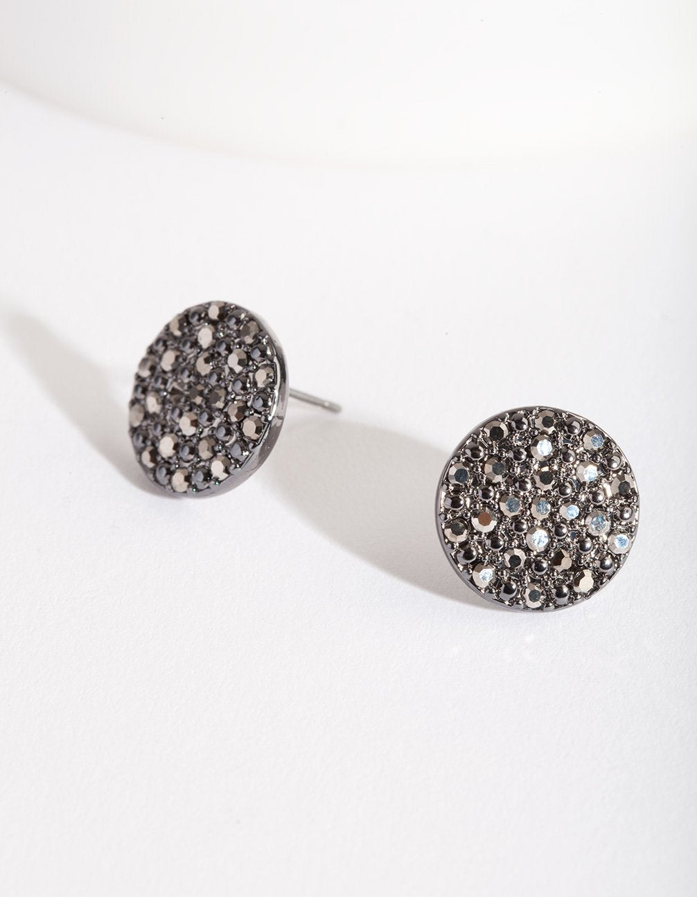 Gunmetal Diamante Speckled Stud Earring