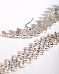 Silver Diamante 106cm Belt - link has visual effect only