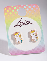 Kids White Unicorn Stud Earring - link has visual effect only