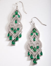 Green Cubic Zirconia Drop Earring - link has visual effect only