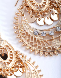 Mini Gold Diamante Disc Bohemian Earring - link has visual effect only