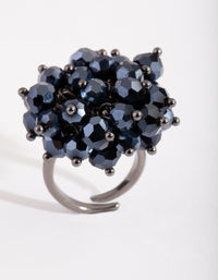 Navy Gem Cluster Ring - link has visual effect only