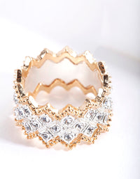 Mixed Metal Zig Zag Ring - link has visual effect only