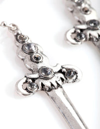 Antique Silver Sword Drop Earring - link has visual effect only