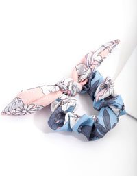 Blue Pink Pastel Bow Scrunchie - link has visual effect only