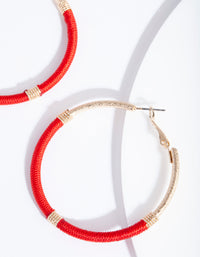 Gold Red Thread Wrap Hoop - link has visual effect only