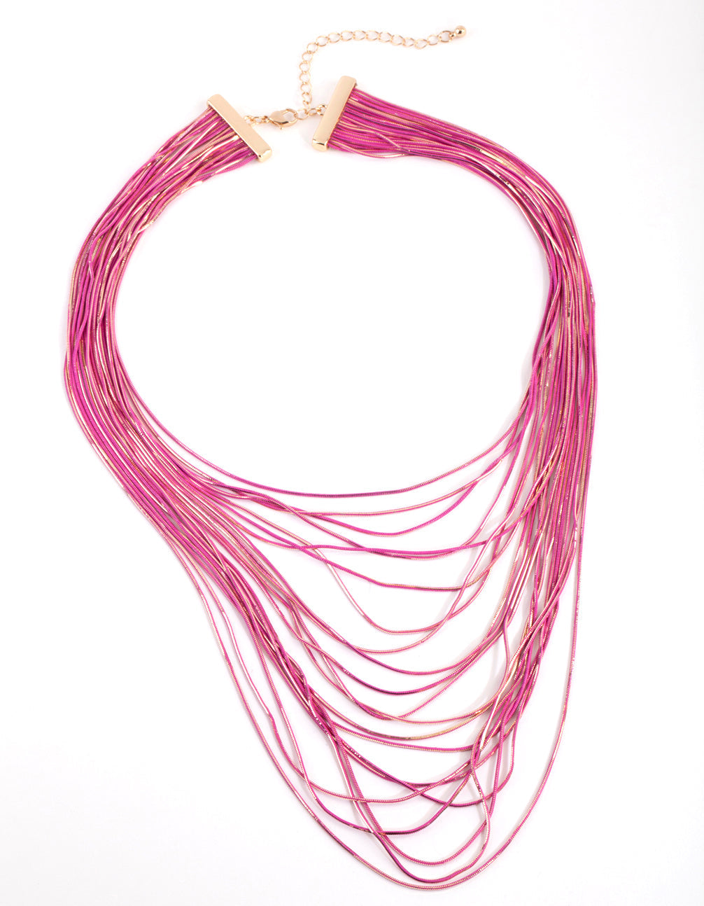 Pink Chain Drape Necklace