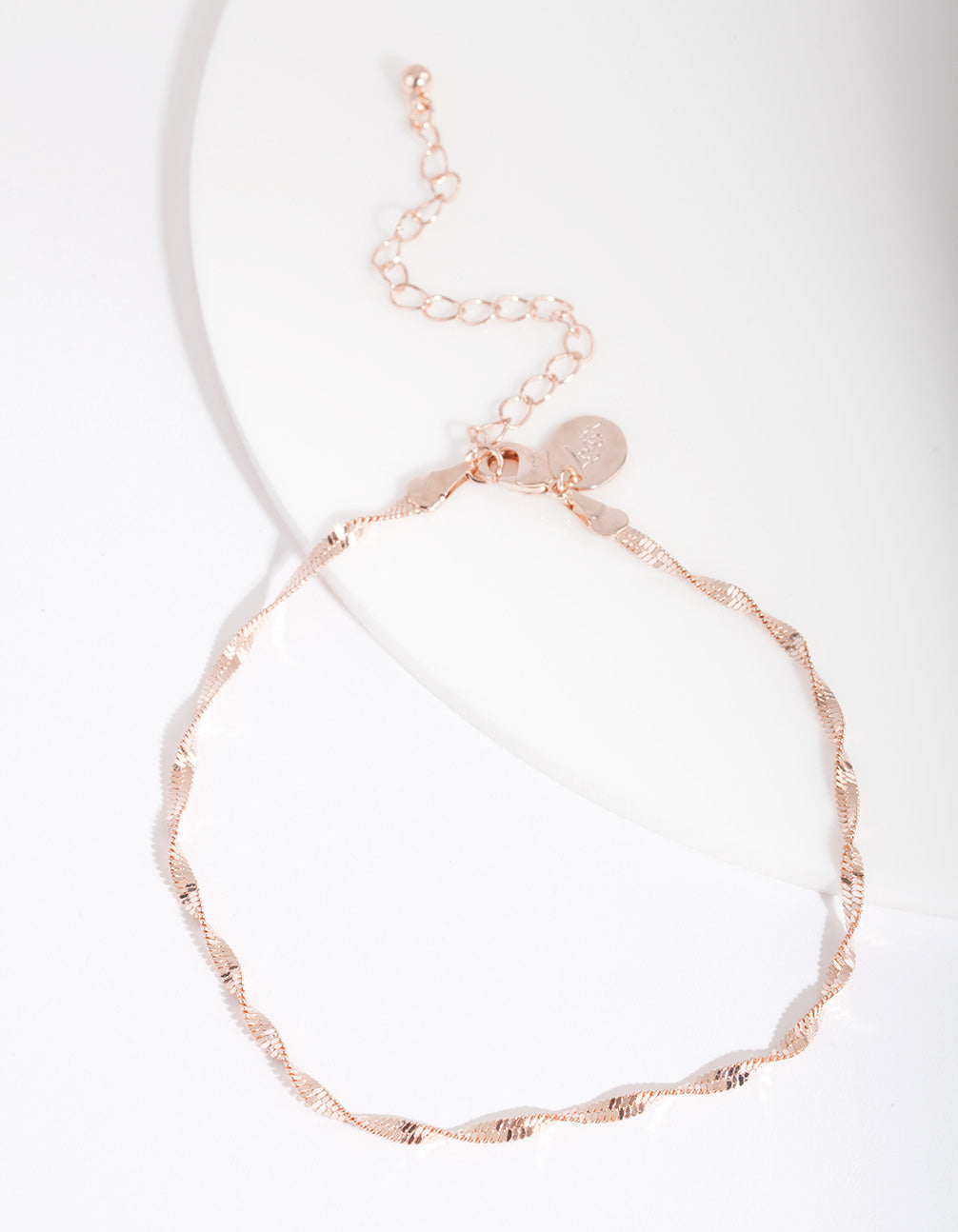 Rose Gold Twist Chain Anklet