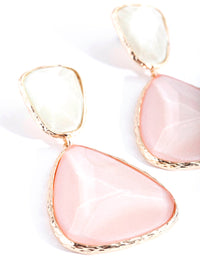 Gold Double Stone Earring - link has visual effect only