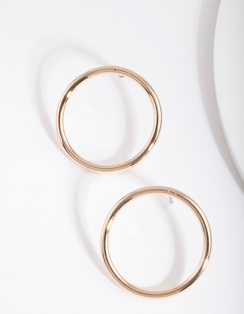 Gold Open Circle Earring