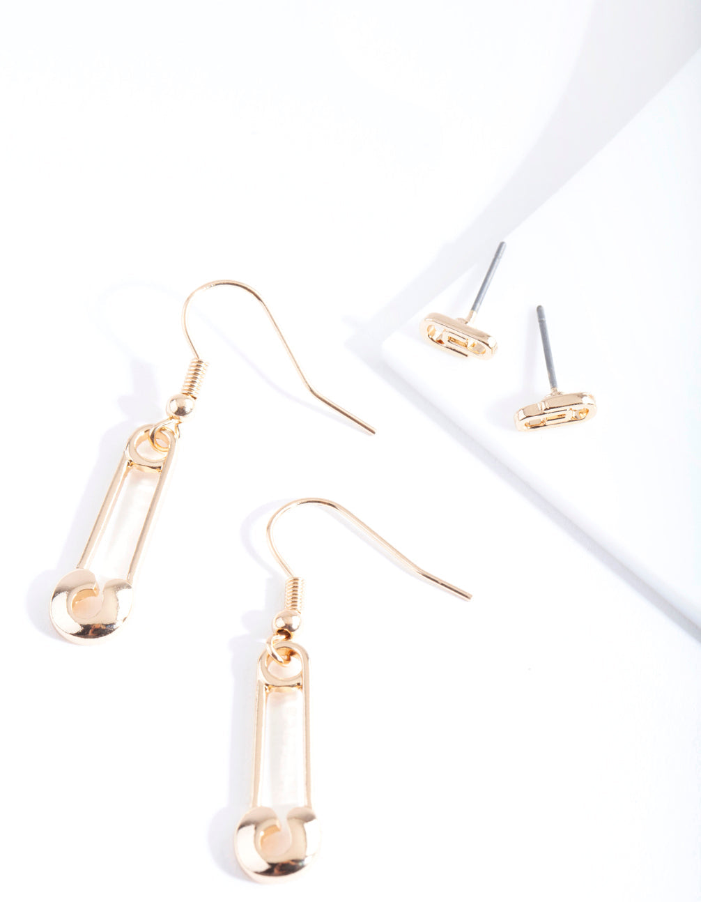 Gold Pink Earring 2 Pack