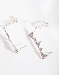 Silver Diamante Triangle Cuff Earring - link has visual effect only