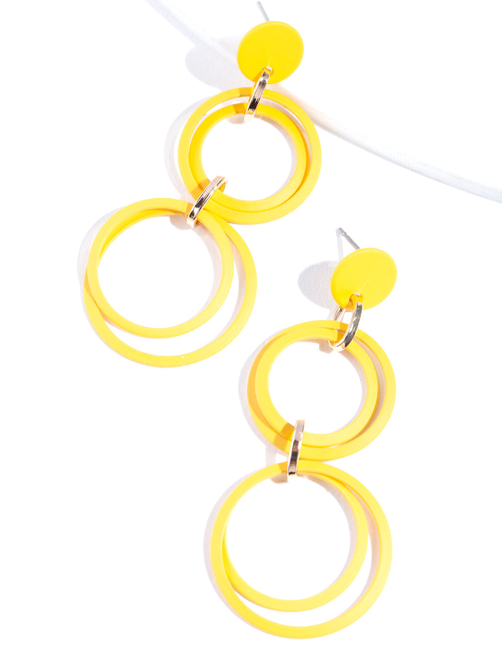 Gold Multi Circle Earring