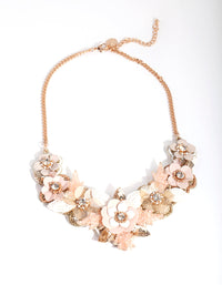 Gold Sequin Flower Necklace - link has visual effect only