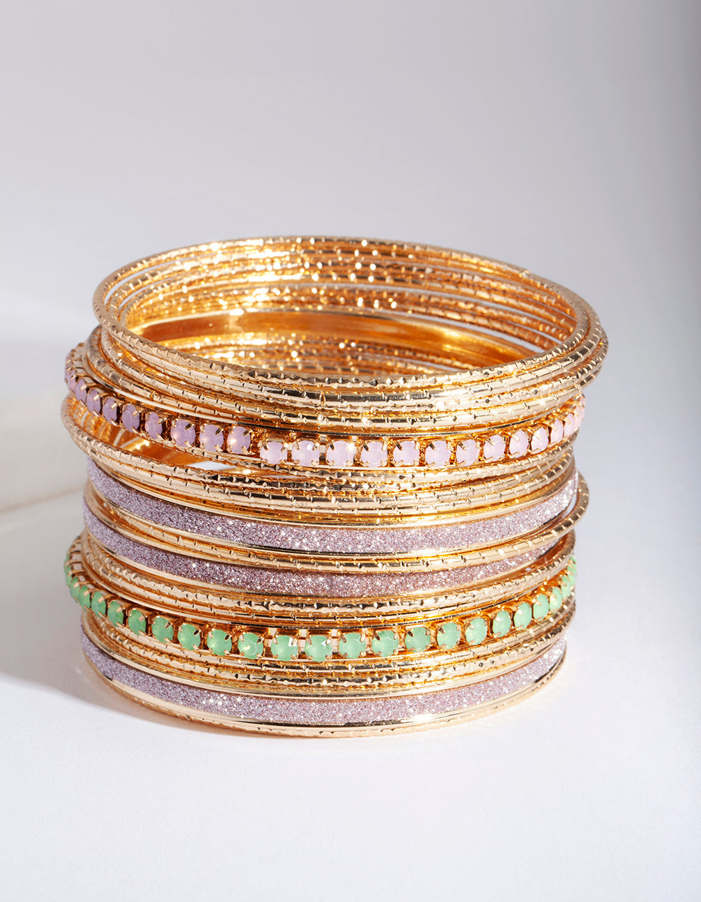 Gold Cupchain & Glitter Bangle 20 Pack