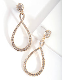 Gold Twist Drop Earring - link has visual effect only