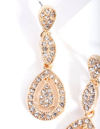 Gold Stone Cutout Earring - link has visual effect only